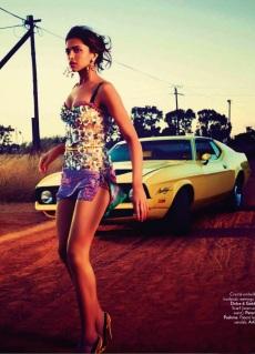 Deepika Padukone Showing-off her Sexy Legs in Vogue Photoshoot