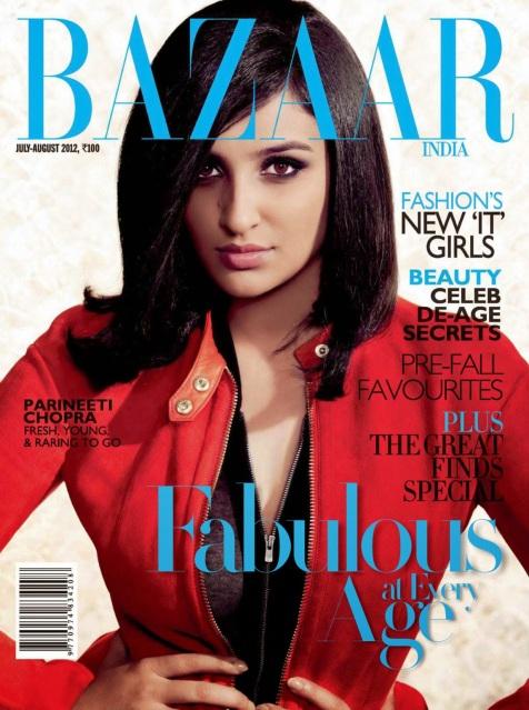 Parineeti Chopra on Harpers Bazaar Magazine Cover